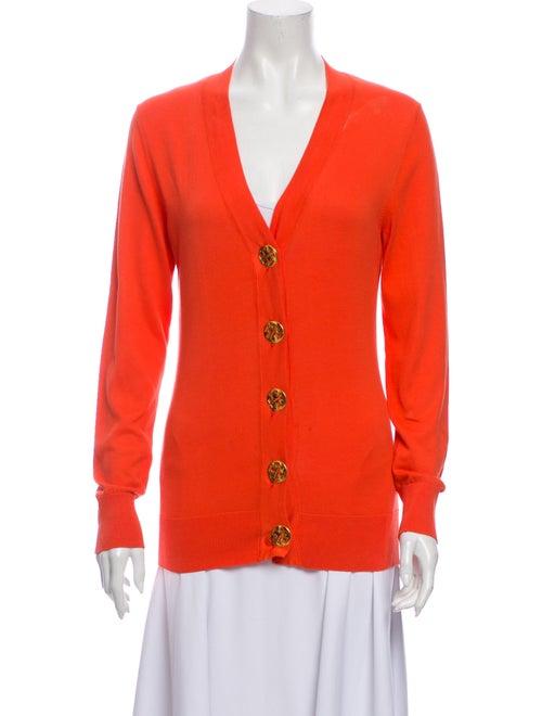 Tory Burch Plunge Neckline Sweater Orange