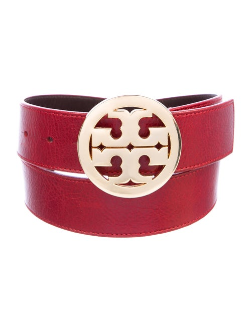 Tory Burch Logo Leather Belt gold