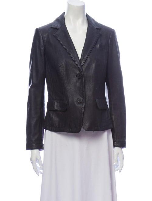 Tory Burch Leather Blazer Black