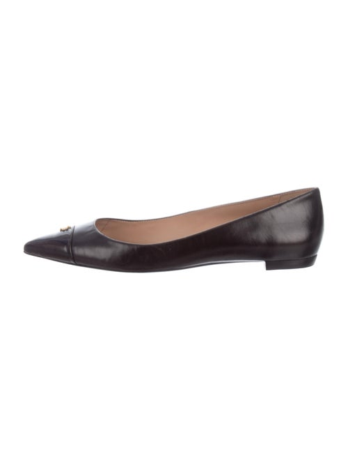 Tory Burch Leather Ballet Flats Black