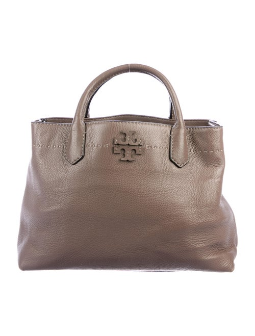 Tory Burch Pebbled Leather Tote Brown