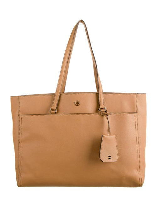 Tory Burch Saffiano Leather Tote Brown