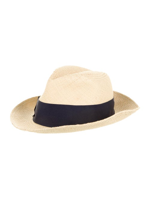Tory Burch Straw Fedora Hat Tan