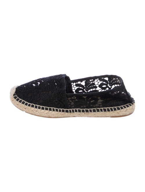 Tory Burch Lace Pattern Espadrilles Black