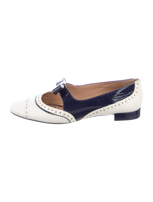 Tory Burch Leather Colorblock Pattern Flats