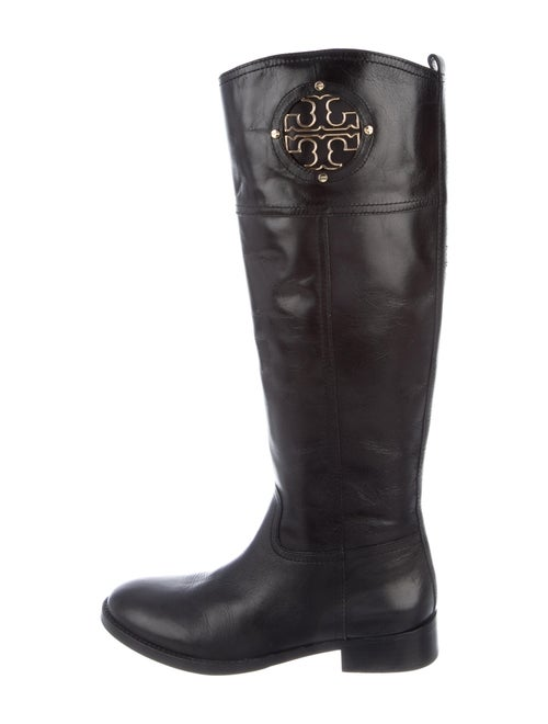 Tory Burch Leather Riding Boots Black
