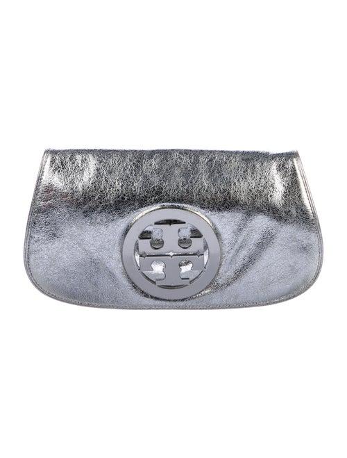 Tory Burch Reva Metallic Clutch Metallic