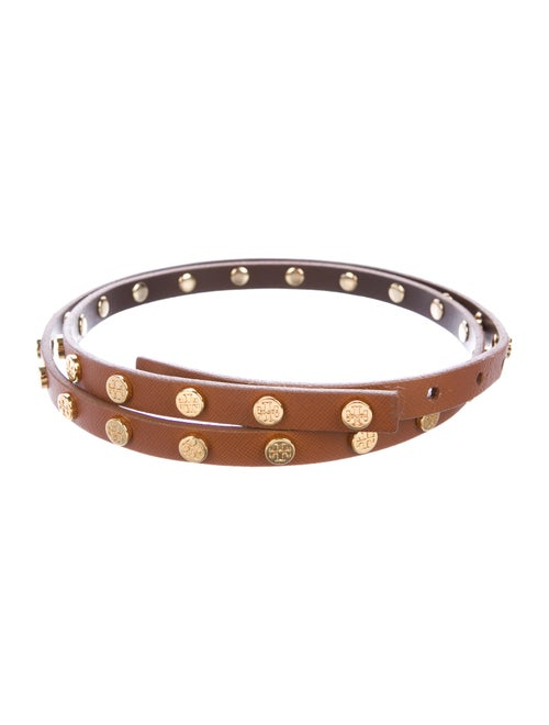 Tory Burch Studded Leather Belt gold