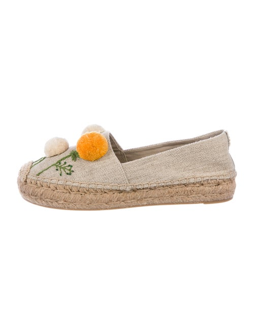 Tory Burch Embroidered Accent Espadrilles