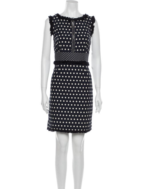 Tory Burch Polka Dot Print Mini Dress Blue