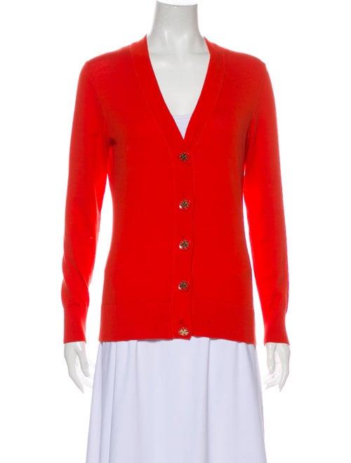 Tory Burch V-Neck Sweater Orange