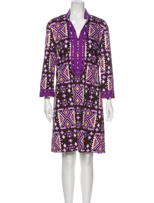 Tory Burch Printed Mini Dress Brown