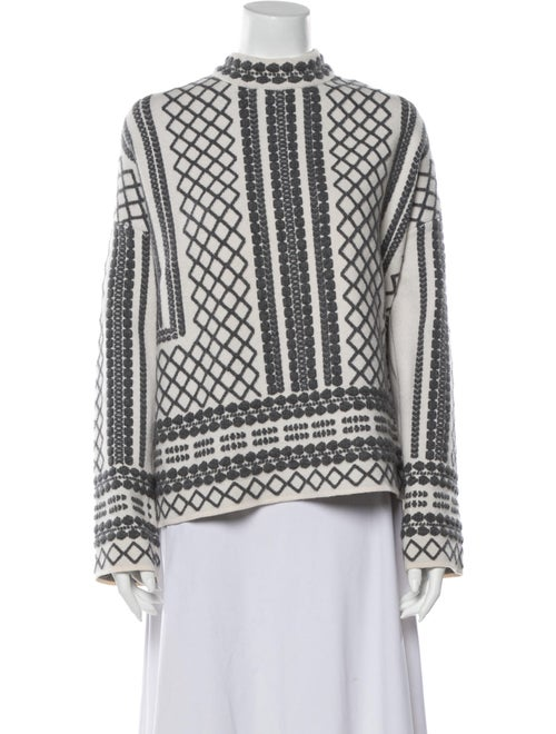 Tory Burch Merino Wool Printed Sweater Wool