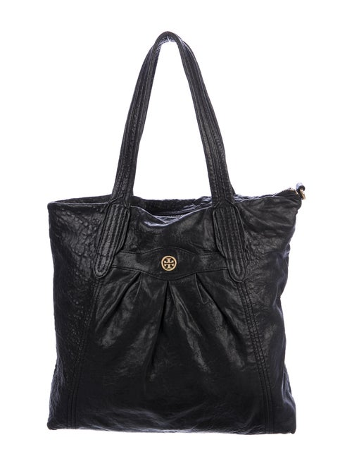 Tory Burch Distressed Leather Tote Black