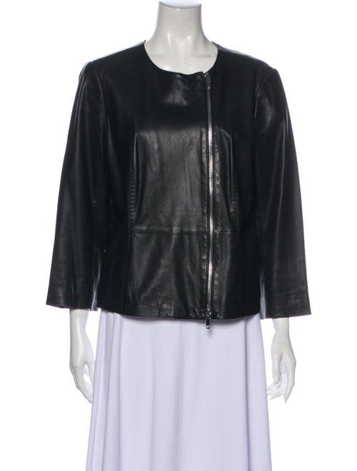 Tory Burch Leather Jacket Black - image 1