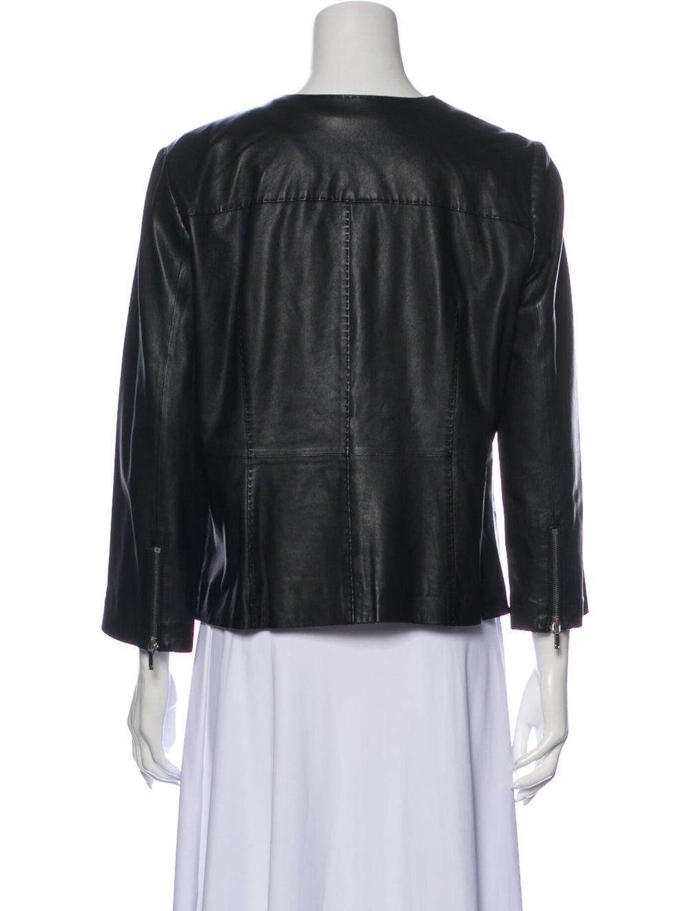 Tory Burch Leather Jacket Black - image 3