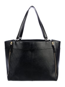 Tory Burch Patent Leather Logo Tote