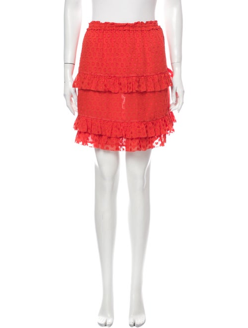 Tory Burch Silk Mini Skirt Orange