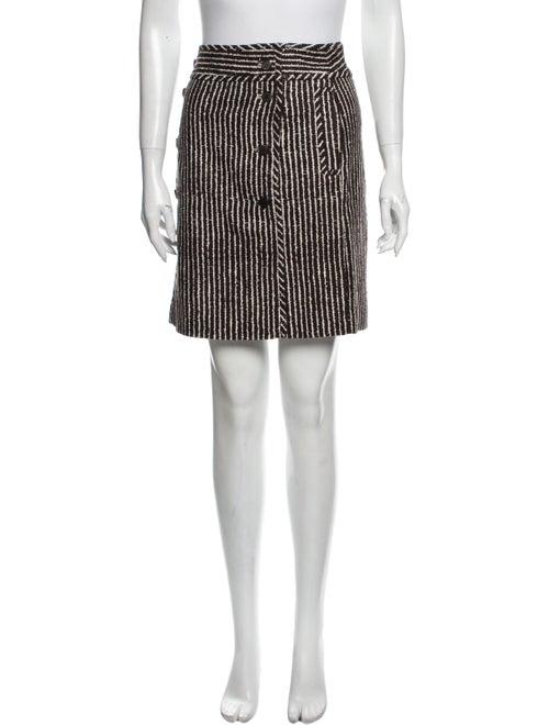 Tory Burch Striped Mini Skirt Brown