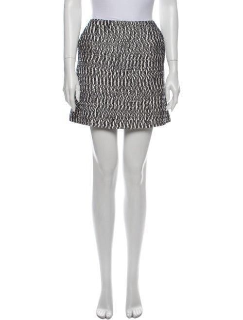 Tory Burch Printed Mini Skirt White