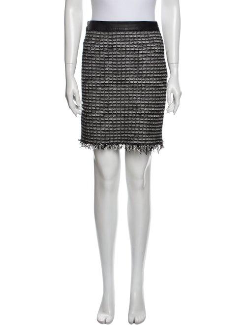Tory Burch Tweed Pattern Mini Skirt Black