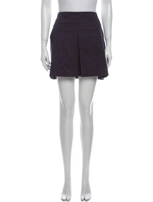 Tory Burch Printed Mini Skirt Blue