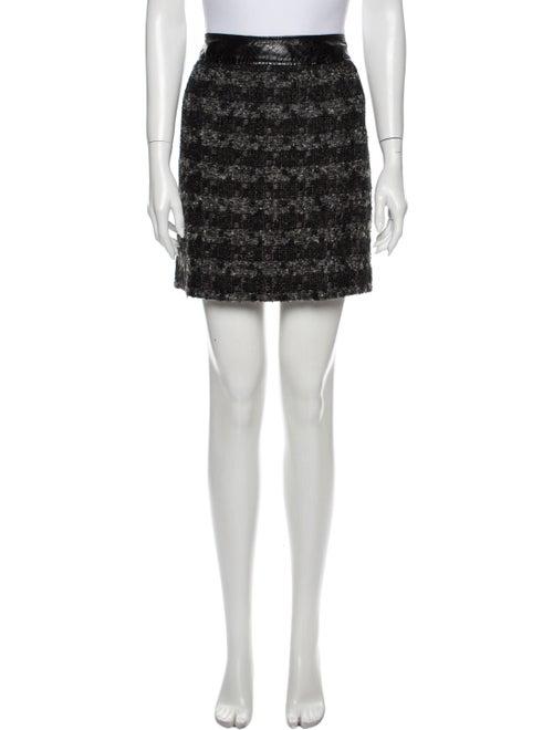 Tory Burch Tweed Pattern Mini Skirt Grey