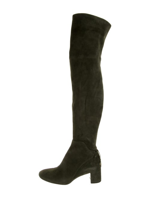 Tory Burch Suede Boots Green