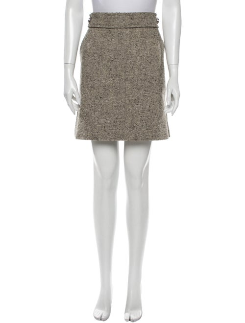 Tory Burch Tweed Pattern Mini Skirt w/ Tags Brown