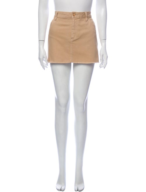 Tory Burch Raw-Edge Trim Mini Skirt