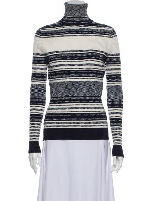 Tory Burch Striped Turtleneck Sweater