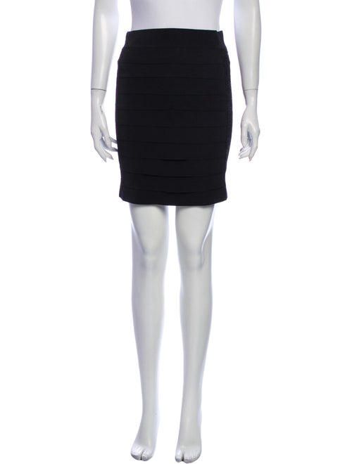 Tory Burch Sequin Embellishments Mini Skirt Black