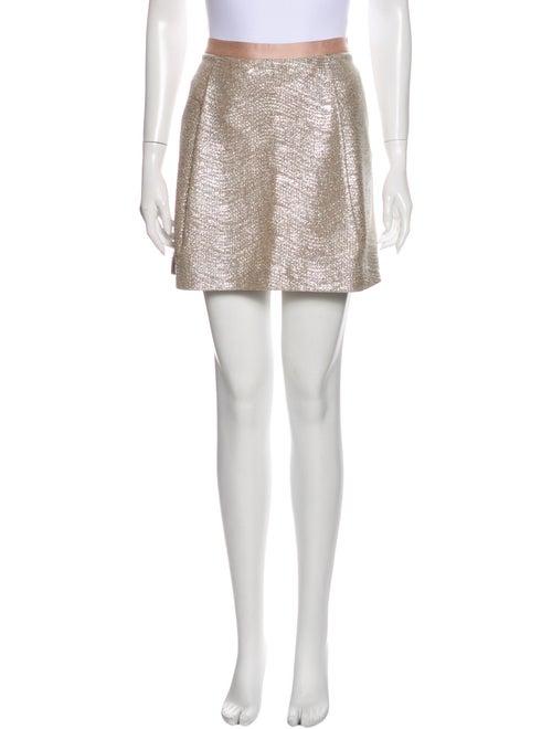 Tory Burch Mini Skirt Metallic - image 1