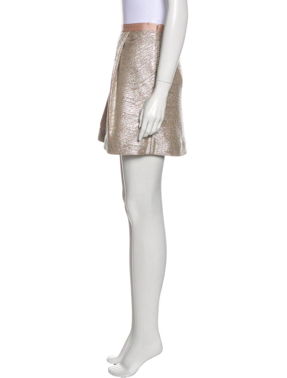 Tory Burch Mini Skirt Metallic - image 2