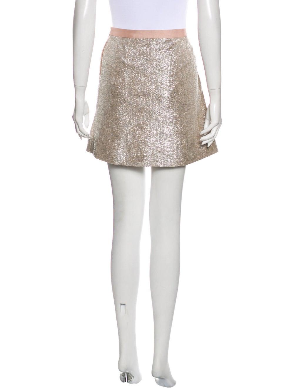 Tory Burch Mini Skirt Metallic - image 3