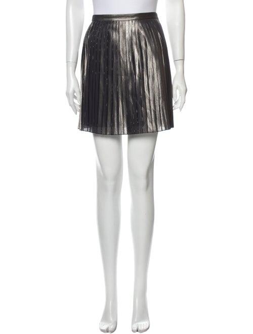 Tory Burch Silk Mini Skirt w/ Tags Metallic