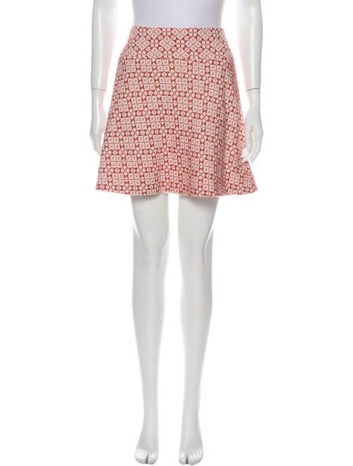 Tory Burch Printed Mini Skirt Orange