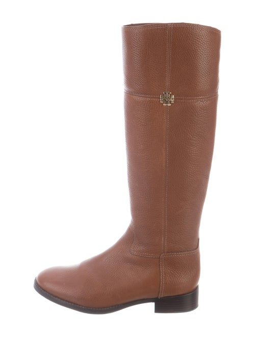 Tory Burch Jolie Riding Leather Riding Boots Brown