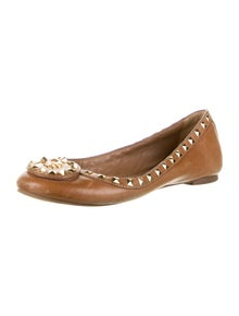 Tory Burch Leather Studded Accents Ballet Flats