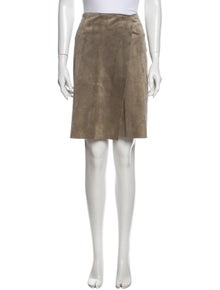 Tory Burch Leather Knee-Length Skirt
