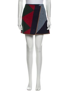 Tory Burch Colorblock Pattern Mini Skirt