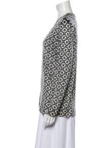 Tory Burch Merino Wool Printed Sweater