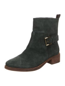Tory Burch Suede Moto Boots