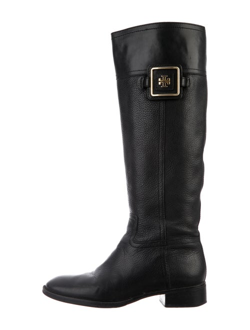Tory Burch Leather Riding Boots Black - image 1