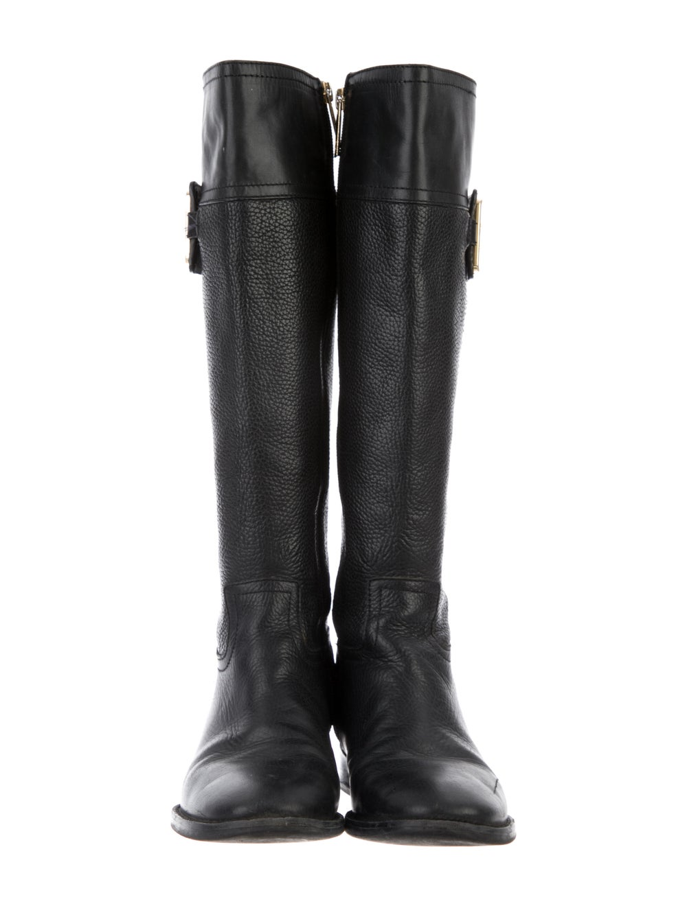 Tory Burch Leather Riding Boots Black - image 3