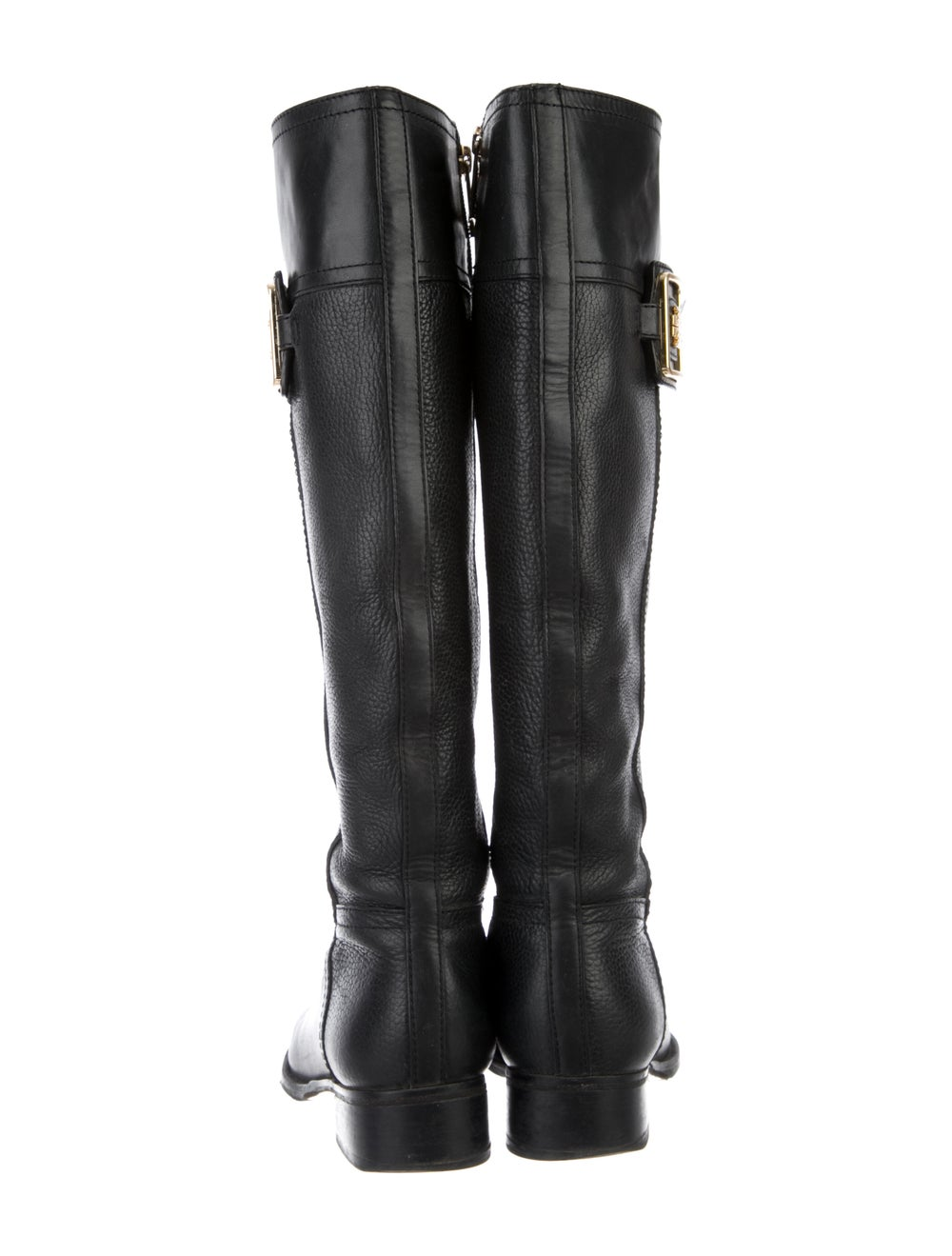 Tory Burch Leather Riding Boots Black - image 4