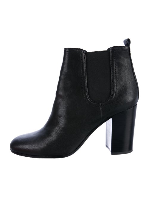 Tory Burch Leather Ankle Boots Black
