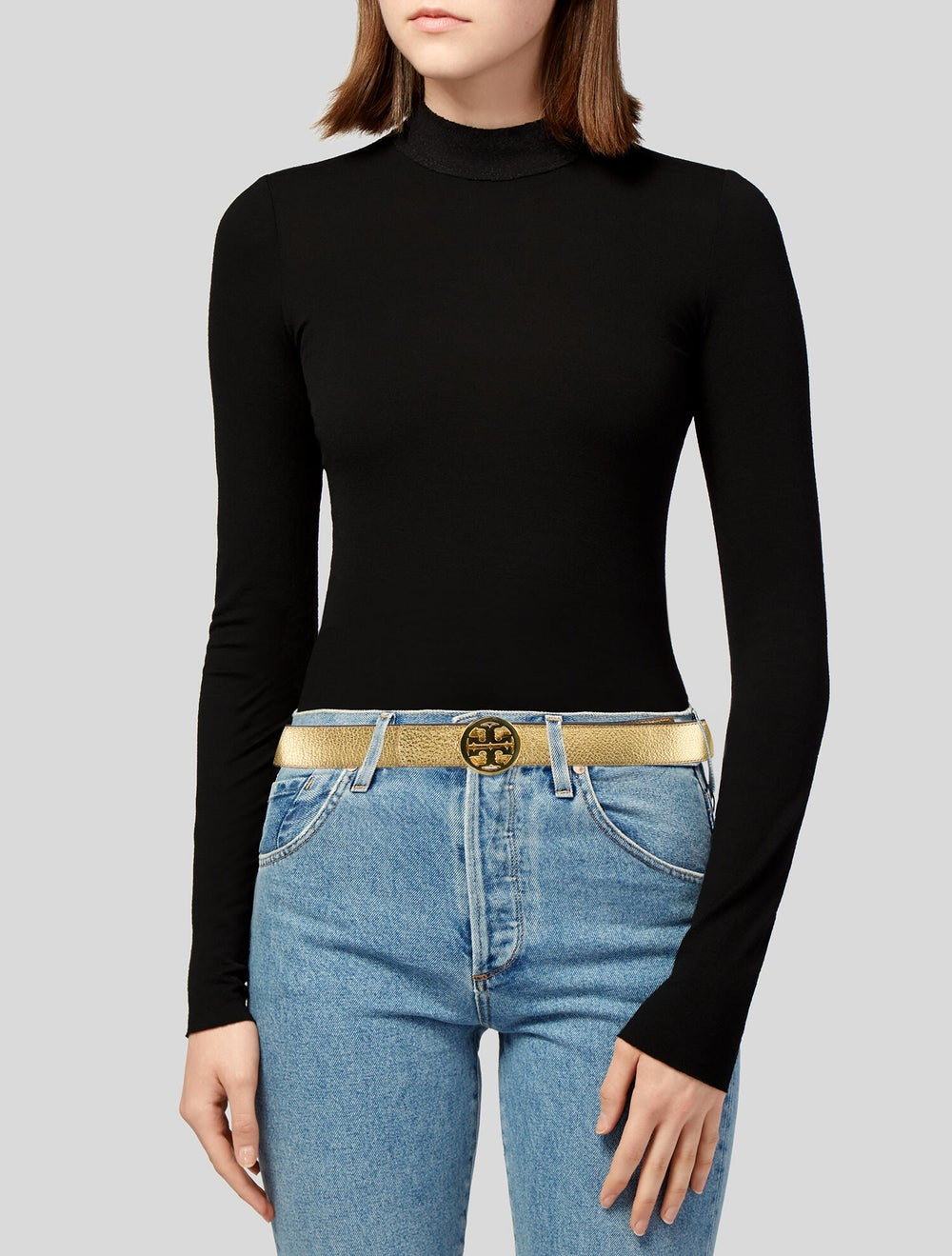 Tory Burch Leather Belt Gold - image 2
