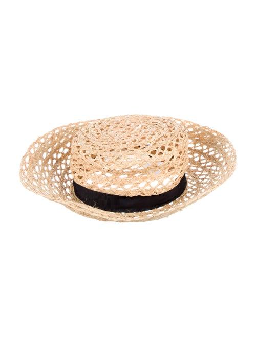 Tory Burch Wide Brim Straw Hat Tan - image 1
