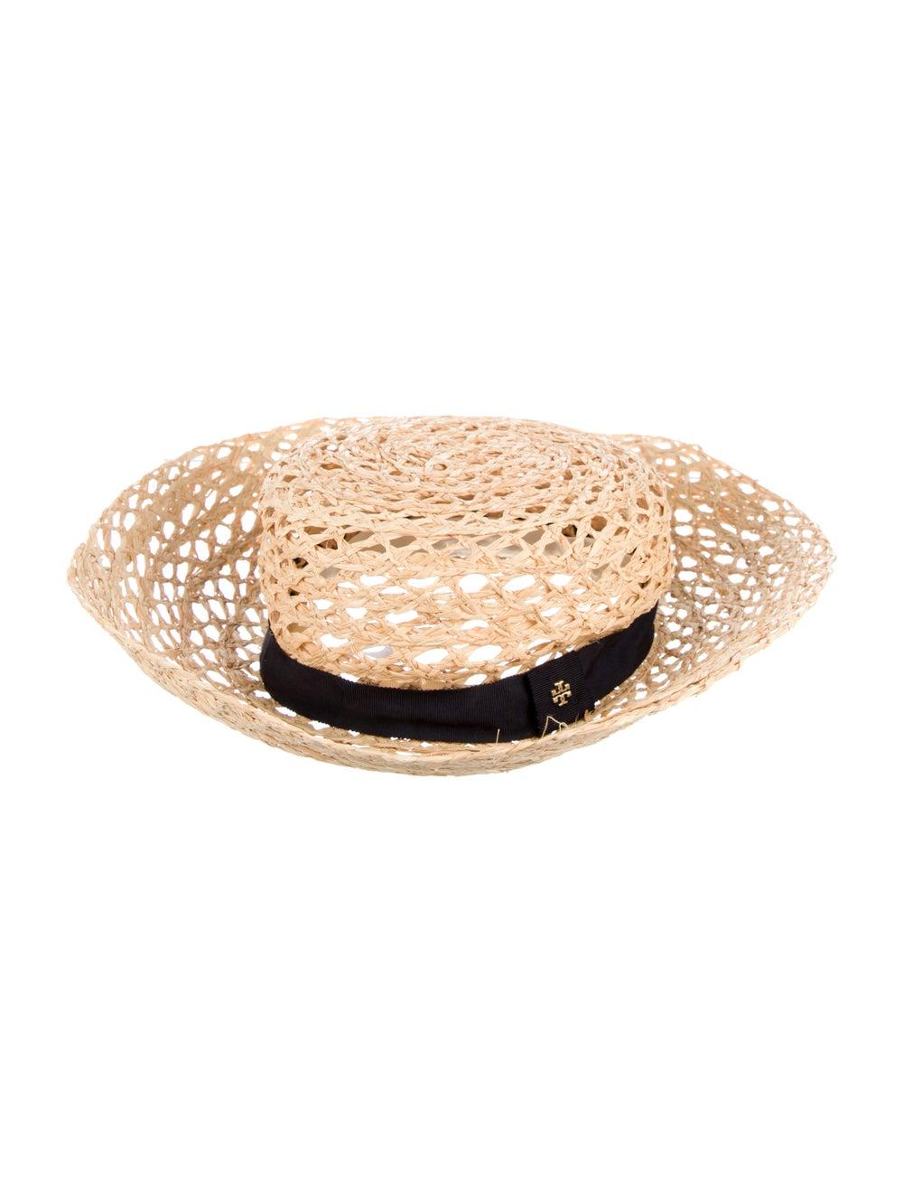 Tory Burch Wide Brim Straw Hat Tan - image 2